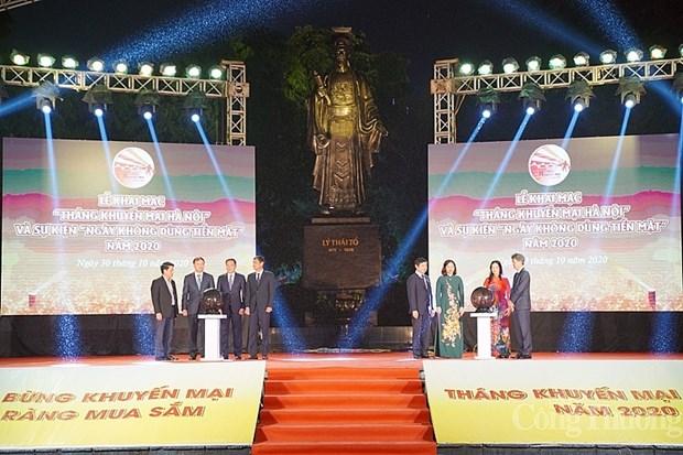 Hanoi lance le Mois de promotion commerciale et la Journee sans cash hinh anh 1