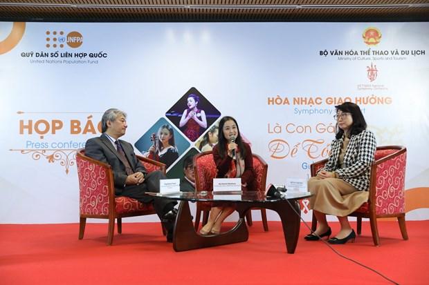 Bientot un concert symphonique pour transmettre le message sur l'egalite des sexes a Hanoi hinh anh 1
