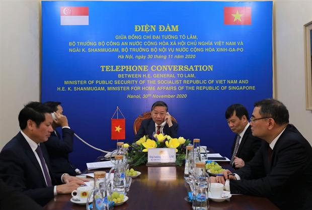 Vietnam et Singapour renforcent la cooperation dans la lutte contre la criminalite transnationale hinh anh 1