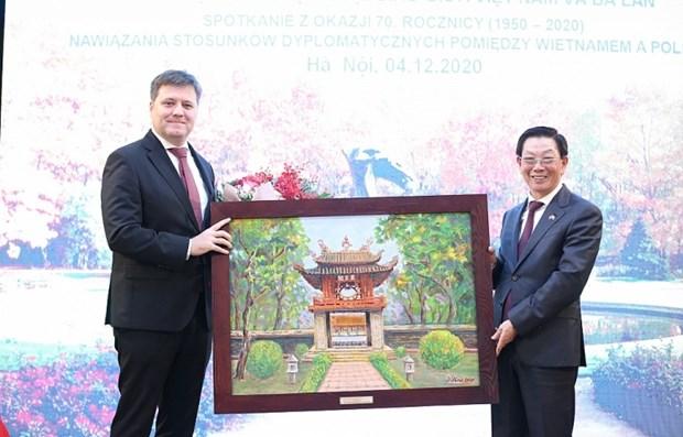 Celebration du 70e anniversaire de l'etablissement des relations diplomatiques Vietnam-Pologne hinh anh 1