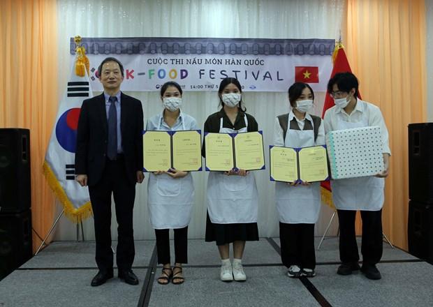 Concours de cuisine K-food Festival a Da Nang hinh anh 1