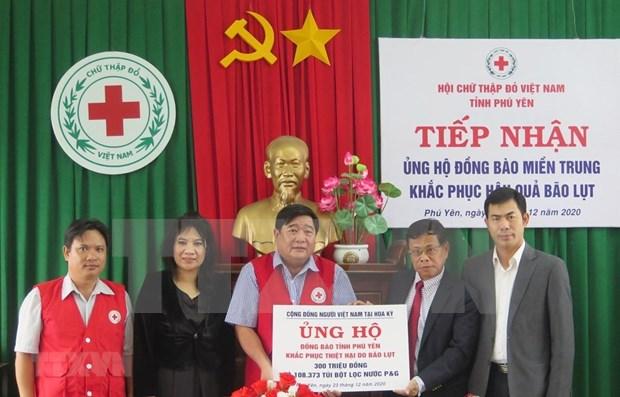 Les Vietnamiens aux Etats-Unis soutiennent les sinistres d'intemperies a Phu Yen hinh anh 1