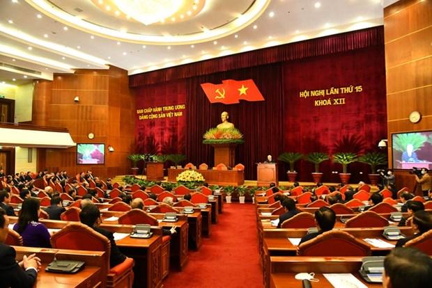 La population salue la reussite du 15e plenum du Comite central du Parti hinh anh 1