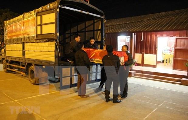 Rapatriement des restes de soldats volontaires et d'experts vietnamiens tombés au Laos