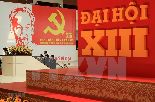 Communique de presse sur la quatrieme journee de travail officielle du 13e Congres national du PCV hinh anh 1