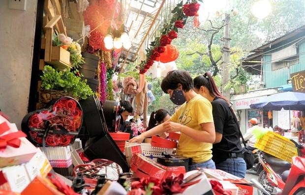 Ho Chi Minh-Ville: Marche tranquille du jour de la Saint-Valentin hinh anh 1