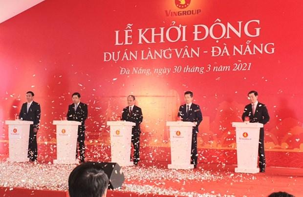 Da Nang: lancement du projet Vinpearl Lang Van d'un invetissement de 1,5 milliard de dollars hinh anh 1