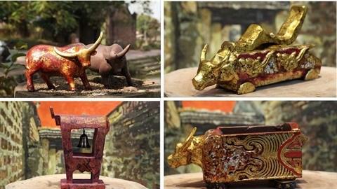 La collection unique de statues de buffles du peintre-artisan Nguyen Tan Phat hinh anh 1