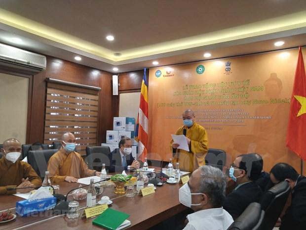 COVID-19 : aide de la Sangha bouddhiste du Vietnam pour l'Inde hinh anh 2