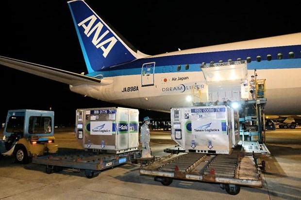 Pres d'un million de doses de vaccin AstraZeneca fournies par le Japon arrivent au Vietnam hinh anh 1