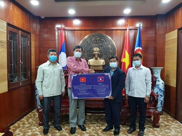 Des provinces du Laos soutiennent le Vietnam dans sa lutte contre le COVID-19 hinh anh 1
