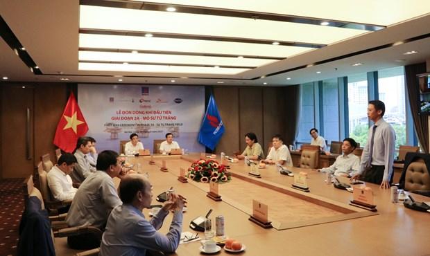 PVN recoit le premier flux de gaz de la phase 2A du champ Su Tu Trang hinh anh 1