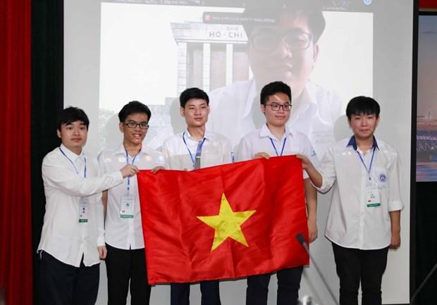 Six eleves vietnamiens concourent aux Olympiades internationales de mathematiques 2021 hinh anh 1