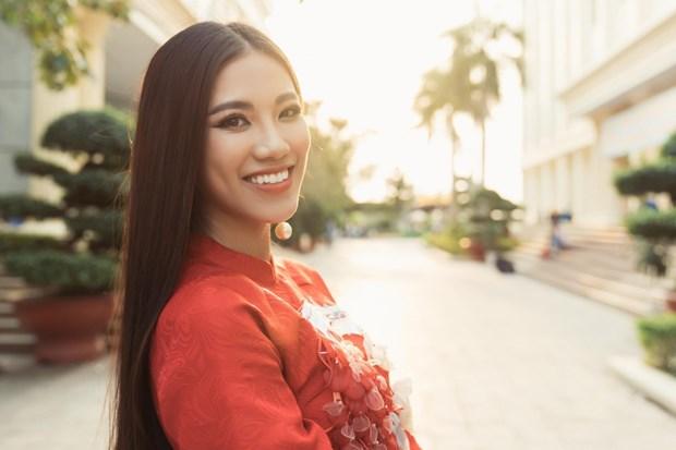 Nguyen Huynh Kim Duyen representera le Vietnam a Miss Univers 2021 hinh anh 2