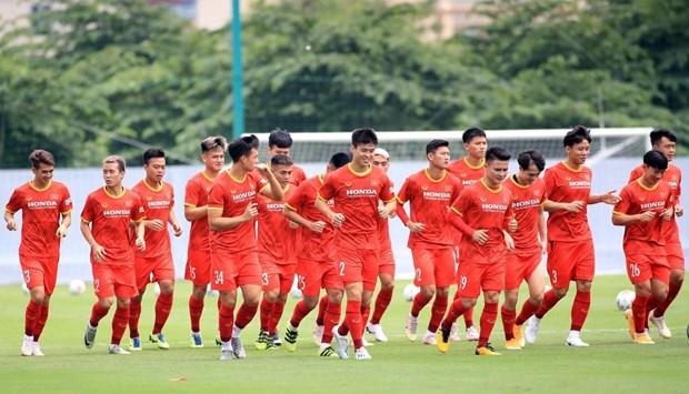 Mondial 2022 : L'equipe vietnamienne reprend l'entrainement pour le dernier tour des eliminatoires hinh anh 1