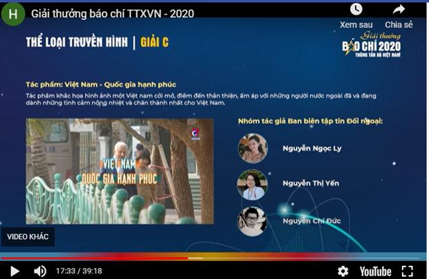 Le Prix de presse de l'Agence vietnamienne d'Information 2020 hinh anh 3