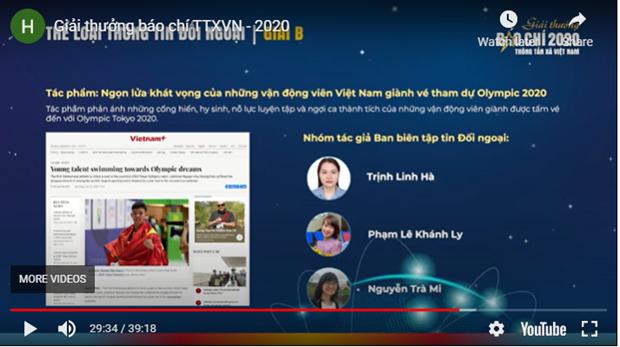 Le Prix de presse de l'Agence vietnamienne d'Information 2020 hinh anh 2
