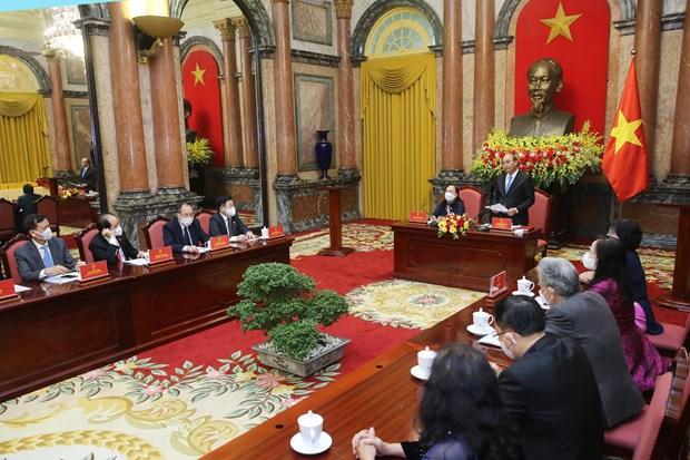 President Nguyen Xuan Phuc: Les personnes agees sont un pilier de la famille et de la societe hinh anh 1