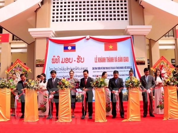 Laos: Inauguration d'une ecole construite avec l'aide du president vietnamien hinh anh 1