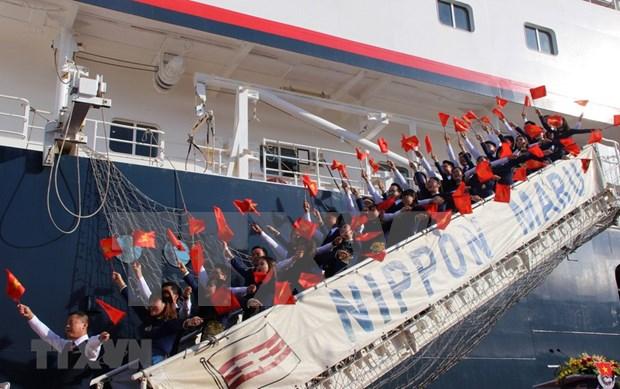 Le bateau de la jeunesse ASEAN-Japon arrive a Ho Chi Minh-Ville hinh anh 1