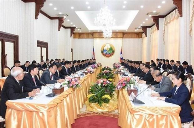 Le Laos et le Cambodge renforcent leur cooperation hinh anh 1