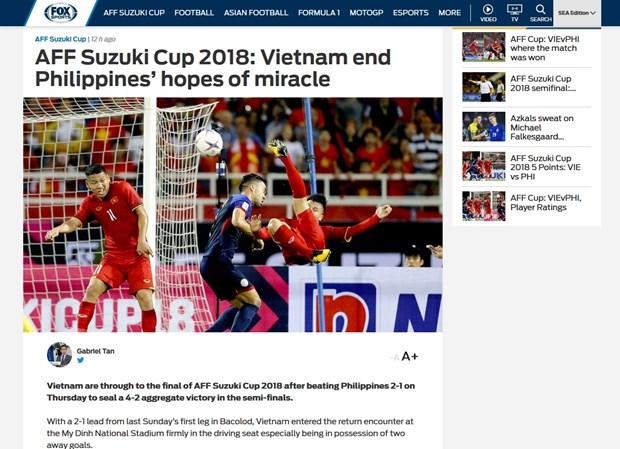 AFF Suzuki Cup 2018: les medias asiatiques saluent la qualification du Vietnam pour la finale hinh anh 1