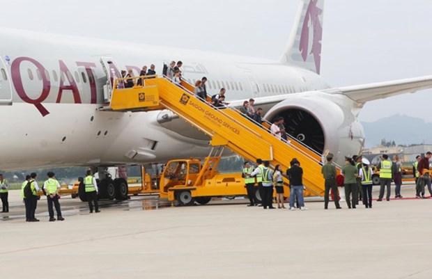 Da Nang accueille le premier vol de Qatar Airways au depart de Doha hinh anh 1