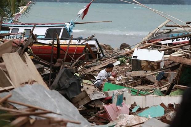 Tsunami en Indonesie : au moins 281 morts et plus d'un millier de blesses hinh anh 1