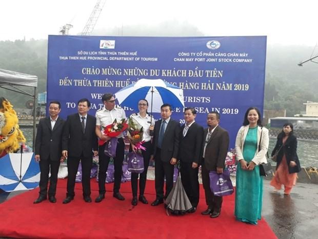 Thua Thien-Hue recoit des premiers touristes arrives par voie maritime hinh anh 1