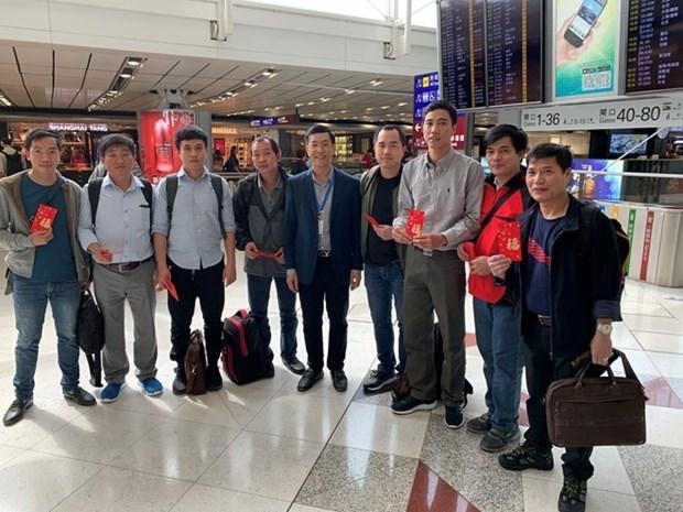 Les marins vietnamiens du petrolier Aulac Fortune rentrent chez eux pour le Tet hinh anh 1