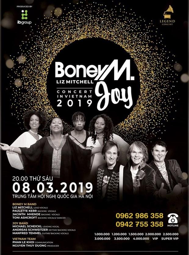 Les groupes Boney M et Joy se produiront a Hanoi en mars prochain hinh anh 1