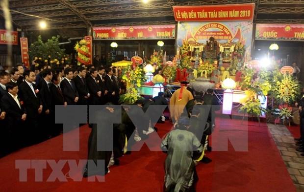 Ouverture de la fete du Temple des rois Tran a Thai Binh hinh anh 1