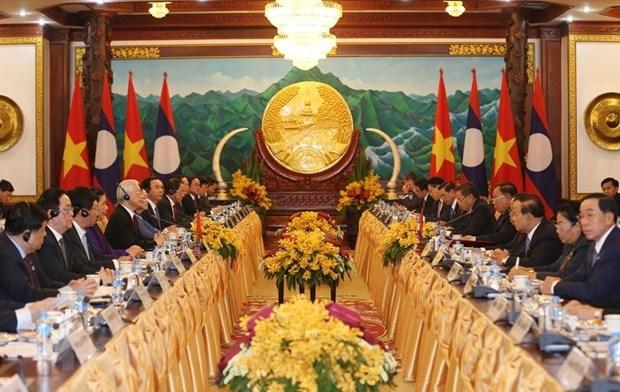 La presse laotienne salue les resultats de la visite du dirigeant vietnamien Nguyen Phu Trong hinh anh 1