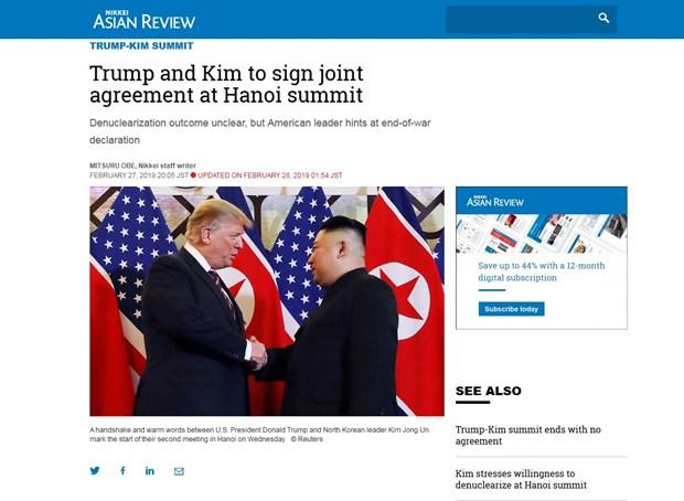 Sommet Etats-Unis – RPDC : les medias japonais apprecient le role du Vietnam hinh anh 1
