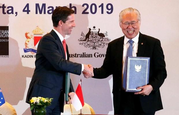 Signature de l'Accord de partenariat economique global Indonesie - Australie hinh anh 1