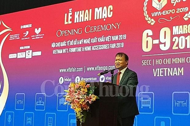 Bois : Ouverture de la foire internationale VIFA-EXPO 2019 a Ho Chi Minh-Ville hinh anh 1