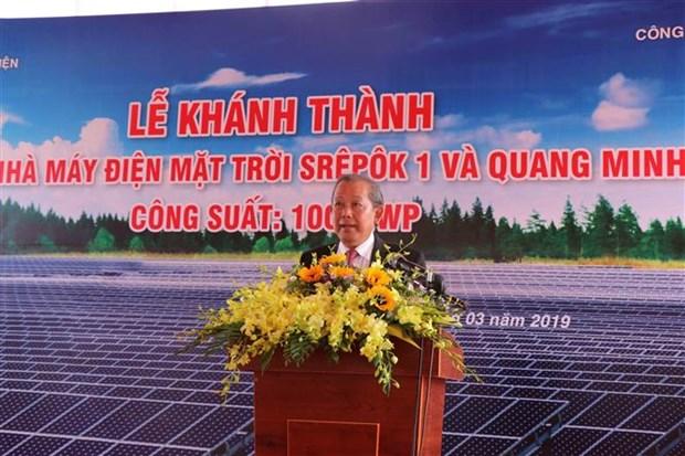 Dak Lak : Inauguration du plus grand complexe solaire au Vietnam hinh anh 1