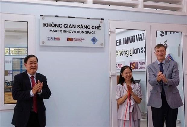 Inauguration d'un espace d'innovation pour les etudiants du delta du Mekong hinh anh 1