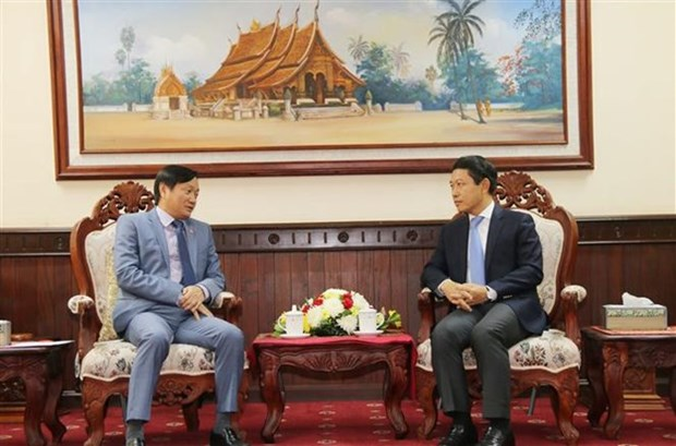 L'ambassadeur vietnamien formule ses vœux a l'occasion du Nouvel An du Laos hinh anh 1