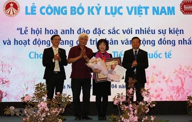 La fete des fleurs de cerisier fait un record au Vietnam hinh anh 1