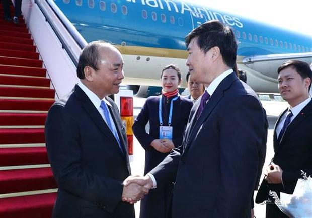Le Premier ministre Nguyen Xuan Phuc arrive a Pekin hinh anh 1