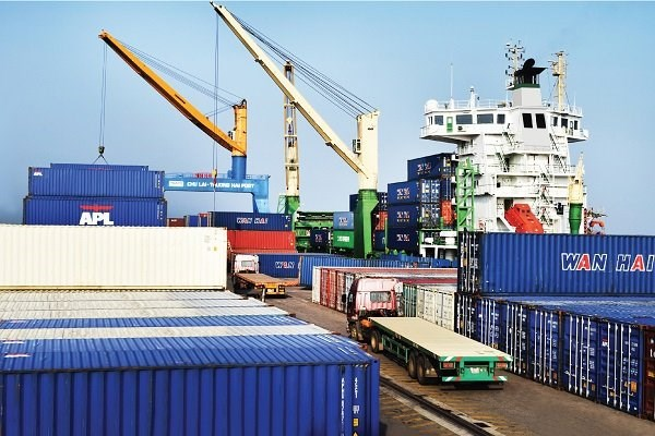 Hai Phong : le terminal HITC accueille un grand porte-conteneurs hinh anh 1