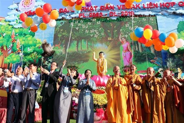 Celebration du 2563e anniversaire de la naissance du Bouddha a Ho Chi Minh-Ville hinh anh 1