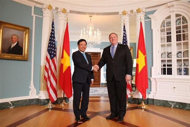 Le vice-PM et ministre des AE Pham Binh Minh en visite officielle aux Etats-Unis hinh anh 1