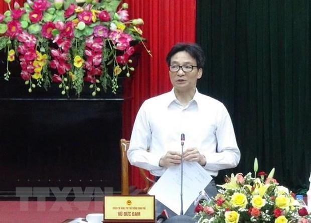 Le vice-Premier ministre Vu Duc Dam recoit des delegues du dialogue AVYLD 2019 hinh anh 1