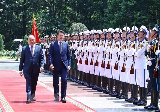 Vietnam-Italie : entretien entre les deux Premiers ministres hinh anh 1