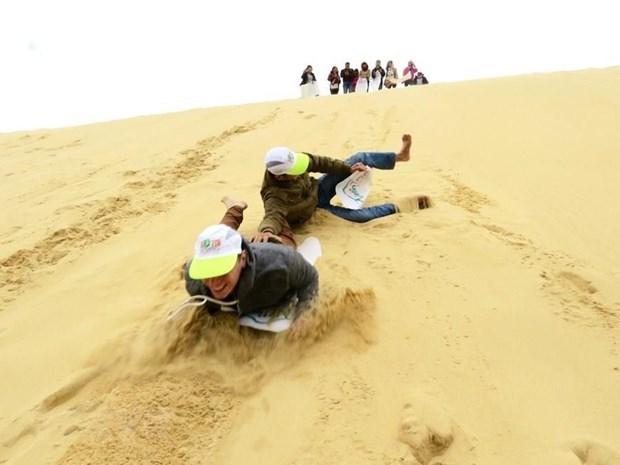 A Mui Ne, on prefere surfer sur le sable hinh anh 1