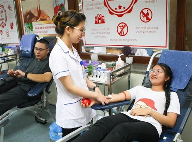 Hanoi honore les donneurs de sang exemplaires en 2019 hinh anh 1