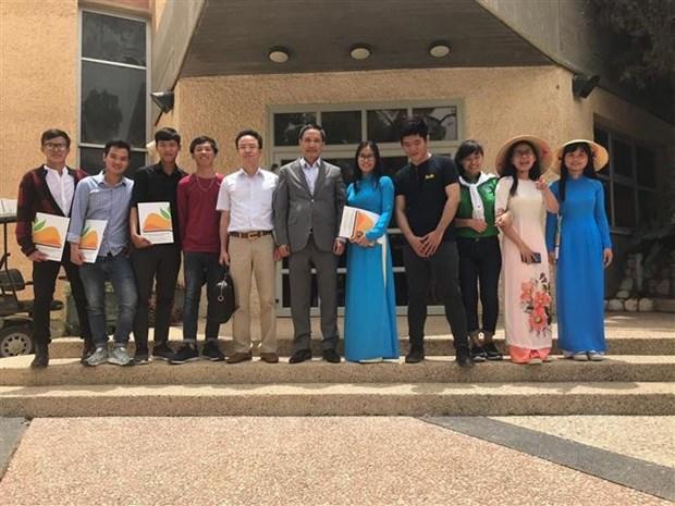 Remise de diplomes a des etudiants vietnamiens en Israel hinh anh 1
