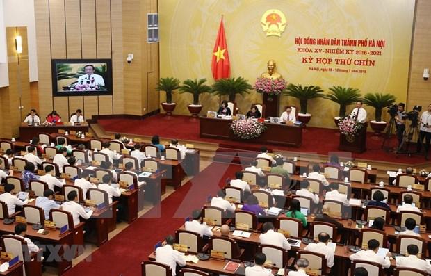 Ouverture de la 9e session du conseil populaire municipal de Hanoi hinh anh 1
